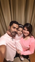Sangeetha krish family: sangeetha, husband krish and their daughter