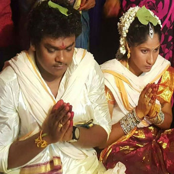Shakalaka Shankar wedding with Parvathi
