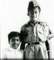 shankar nag childhood photo with brother anant nag