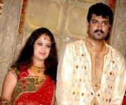 Srujan lokesh with wife greeshma