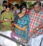 Stars of kannada industry hema chaudhary and doddanna seeing the d rajendra babu, Babu's daughters Nakshatra and Uma can be seen in the picture