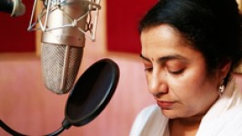 Suhasini at teachaids recording session in 2013