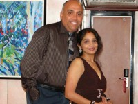 Sunitha with her husband