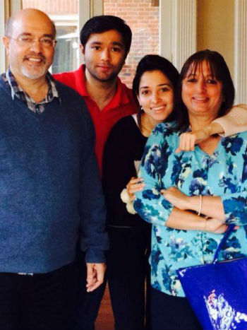 Tamannaah family: father Santhosh Bhatia, mother Rajani Bhatia, elder brother Anand Bhatia